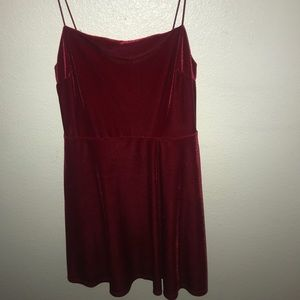 Red Velvet mini-dress